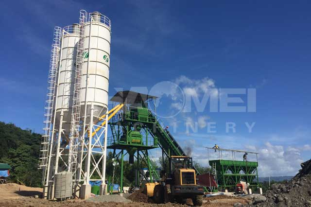 60m3/h concrete batching plant in Manila