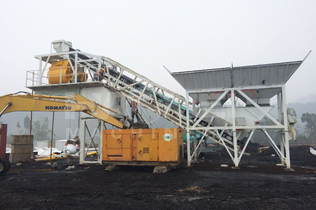 YHZS60 mobile concrete plant in Indian